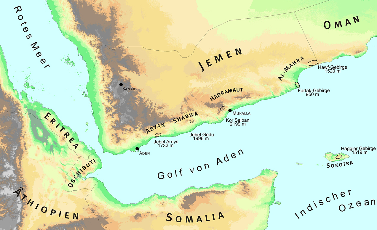 Research On The Arabian Peninsula And Socotra BGBM - Where is yemen located