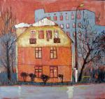 Viktoriia Teletien: Haus meiner Kindheit, 2010, Öl auf Leinwand © Viktoriia Teletien