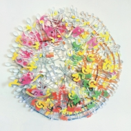 Detel Aurand: Rokoko, 2007, Styropor, Plastik, Acrylglas auf Kapaline, ø 110 cm