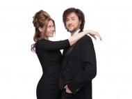 Alessandro und Hanna Rinella. Sommerkonzert im Botanischen Garten Berlin. Foto: Alessandro und Hanna Rinella
