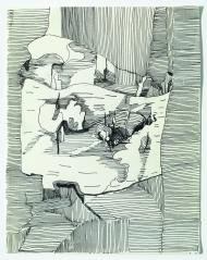 Gudula Fisauli: Betulla, 2014, Fineliner auf Papier, 28 x 22,2 cm