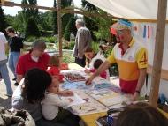 Kunstmarkt des Kulturamt Steglitz-Zehlendorf im Botanischen Garten Berlin / Kinderprogramm mit Kemal Can. Foto: Stefan Martinkat / Kulturamt Steglitz-Zehlendorf