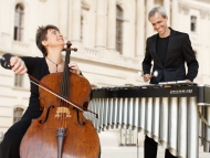 Oli Bott, Marimbaphon & Anna Carewe, Violoncello. Foto: Miroer