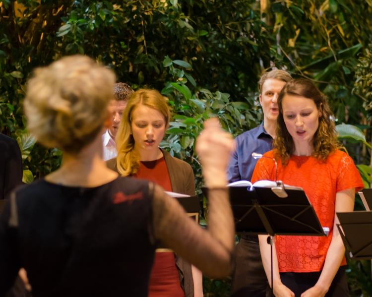 Palmensinfonie, Chor Canto. Foto: K. Schomaker / Botanischer Garten und Botanisches Museum Berlin